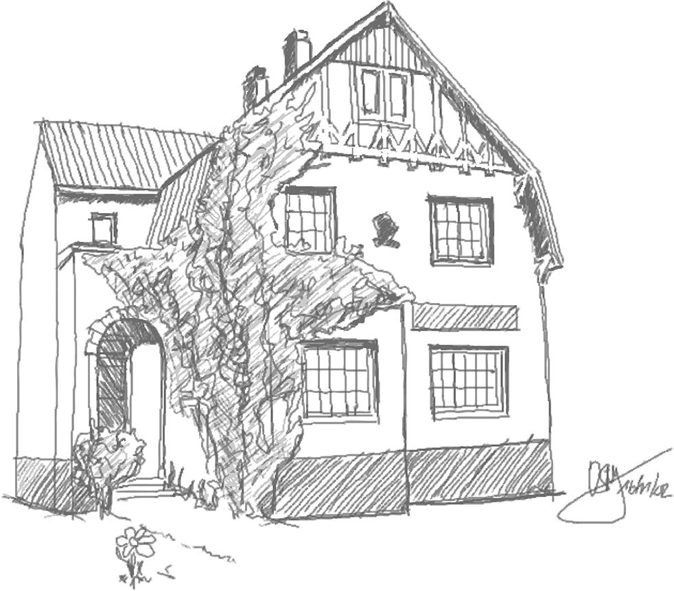 Das Kinderhaus Blauer Elefant in Bad Oldesloe als Zeichnung